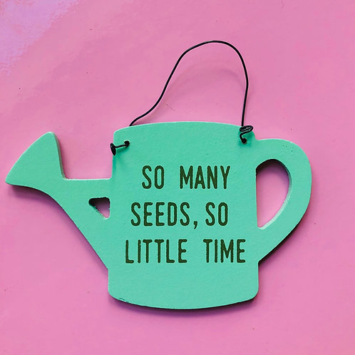 Pale Green Watering Can Sign
