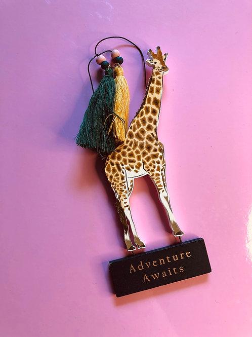 Giraffe Safari Sign (Adventure awaits)