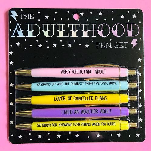 Adulthood Pen Set