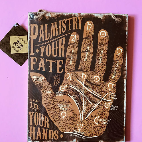 Wooden Palmistry Sign