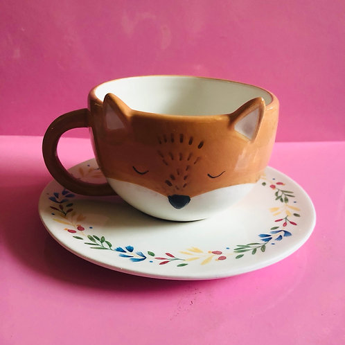 Finley Fox Teacup and Saucer