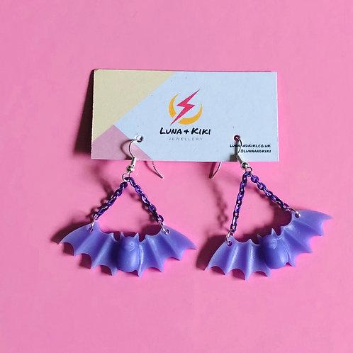 Lilac Bat Earrings