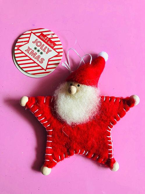 Felted Star Santa