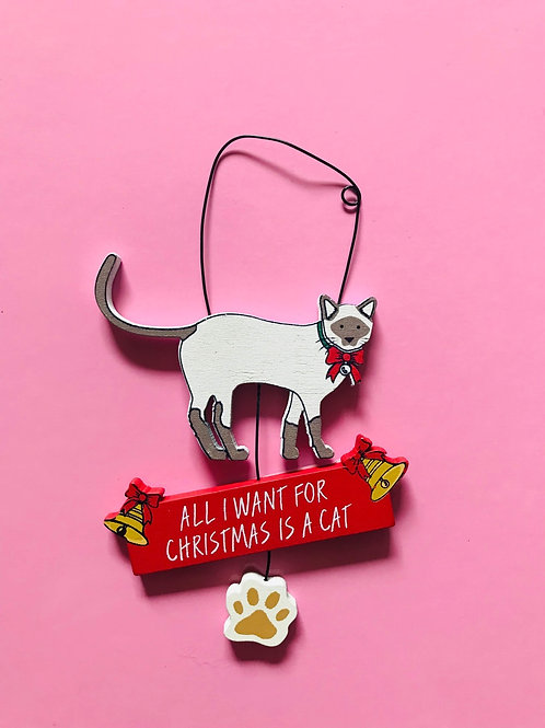 Christmas cat sign