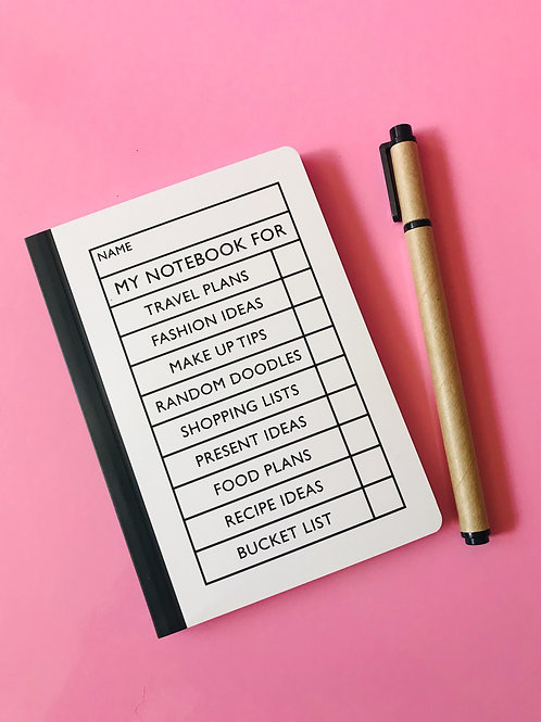 Tick the Box Notebook