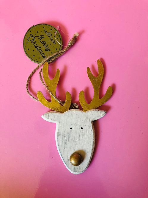 Gold Rudolph Decoration