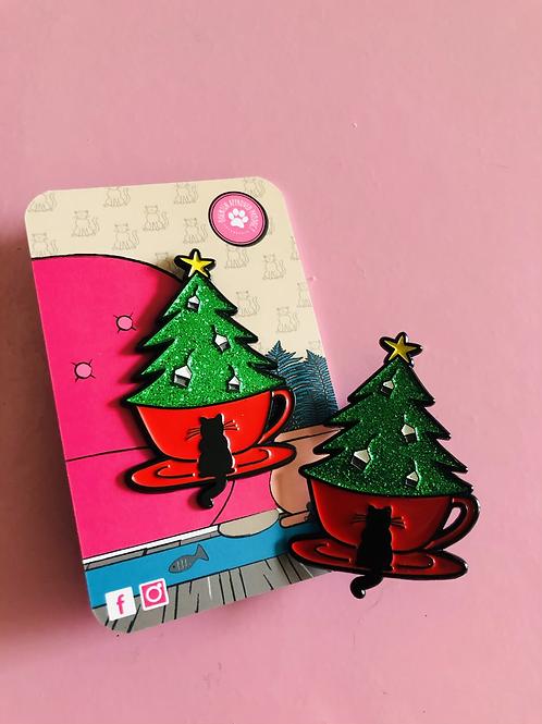 Christmas Tea Pin