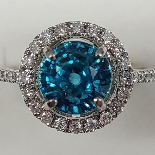 Ladies Blue Zircon Ring