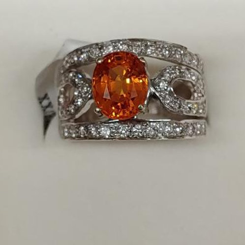 Ladies Spessartite Garnet Ring