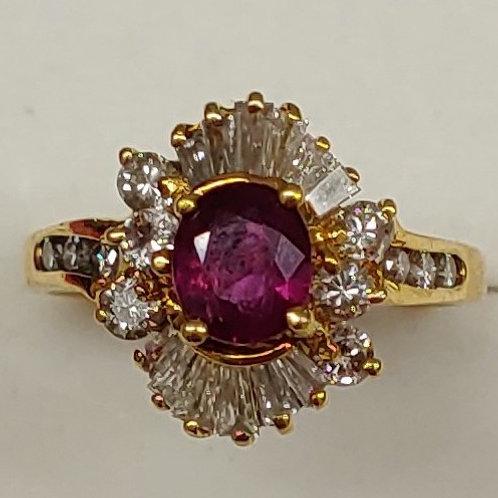 Ladies Ruby Ring