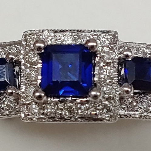 Ladies Blue Sapphire Ring