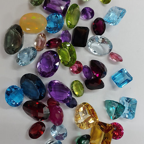 100 ct. Faceted Gemstone Lots