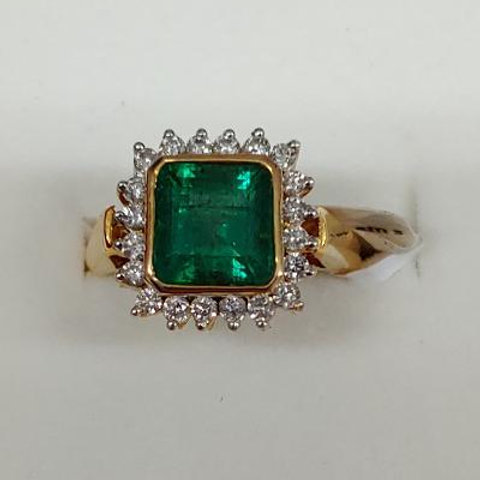Ladies Columbian Emerald Ring