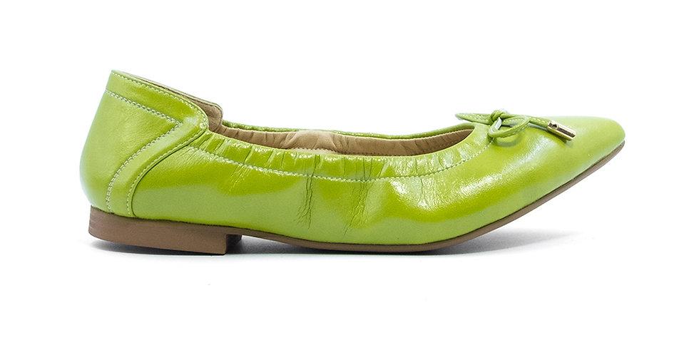 Giày Búp Bê Mũi Nhọn AD màu xanh lá