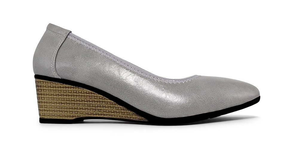 Giày Búp Bê Đế Xuồng Da Thật AD by Sullily màu xám