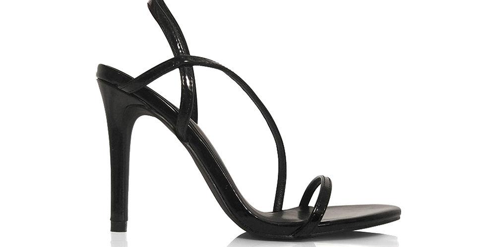 Giày Sandal Gót Nhọn Quai Mỏng Chéo 10 phân Sulily màu đen