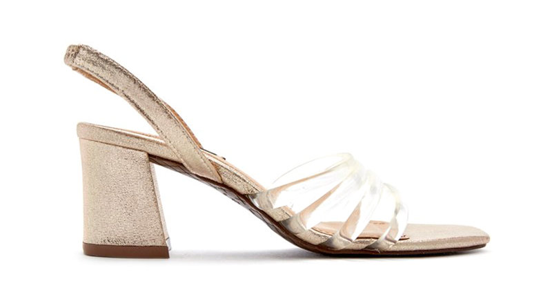 Giày Sandal Gót Vuông Dây Trong Sulily