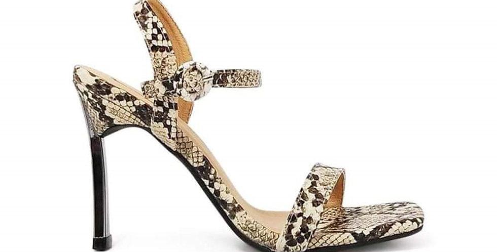 Giày Sandal Gót Nhọn Da Rắn Sulily SG1-IV20XAM