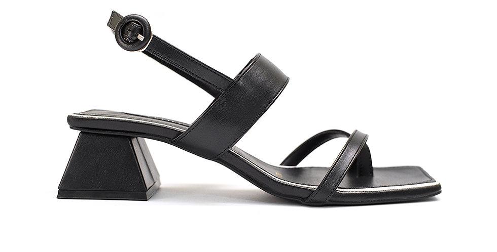 Giày Sandal Xỏ Ngón 5 Phân Sulily màu đen
