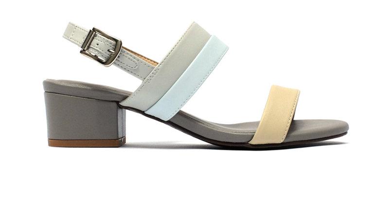 Giày Sandal Gót Vuông Quai Ngang Sulily