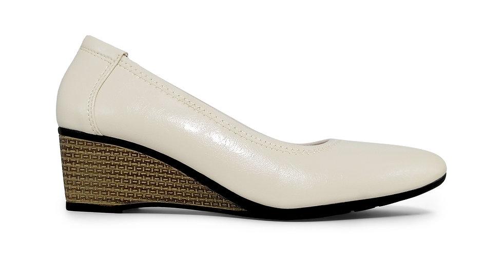 Giày Búp Bê Đế Xuồng Da Thật AD by Sullily màu trắng