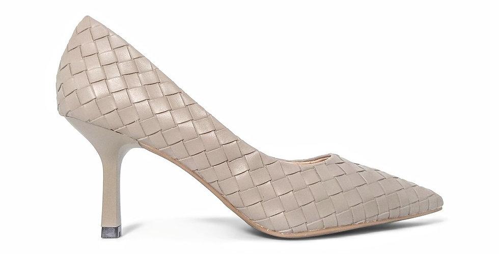 Giày Cao Gót Công Sở 6cm Đệm Mút Sulily màu xám