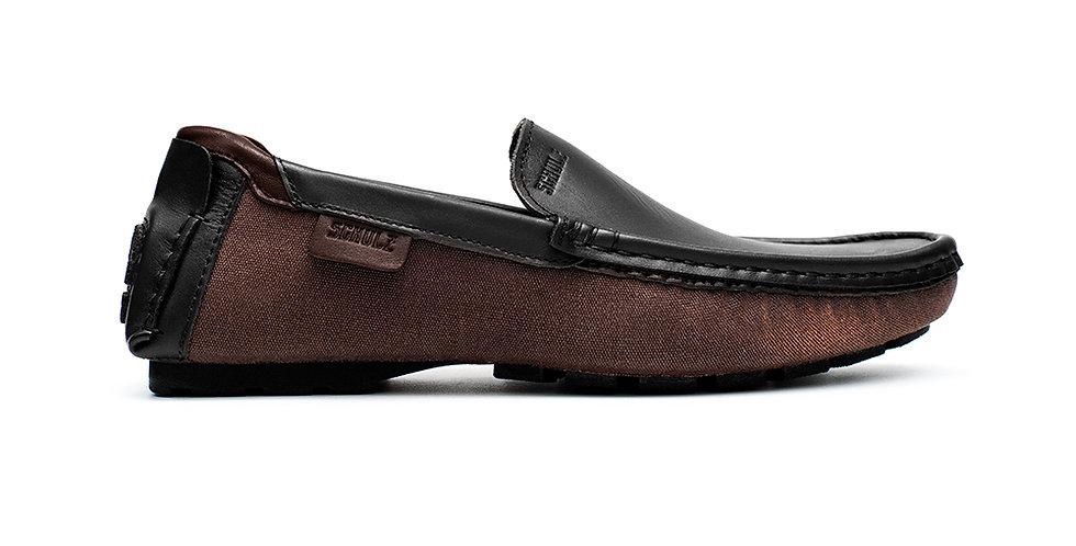 Giày Da Loafer Phối Vải Schulz