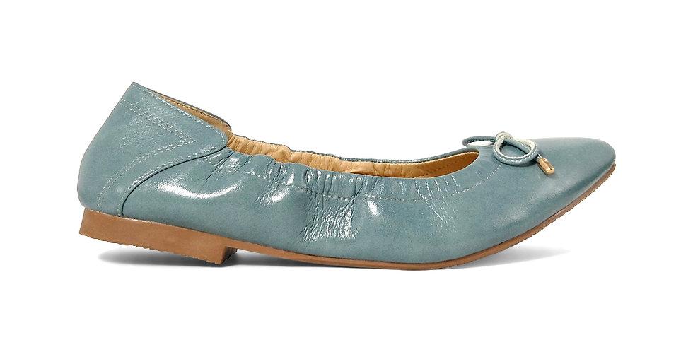 Giày Búp Bê Mũi Nhọn AD màu xanh ngọc