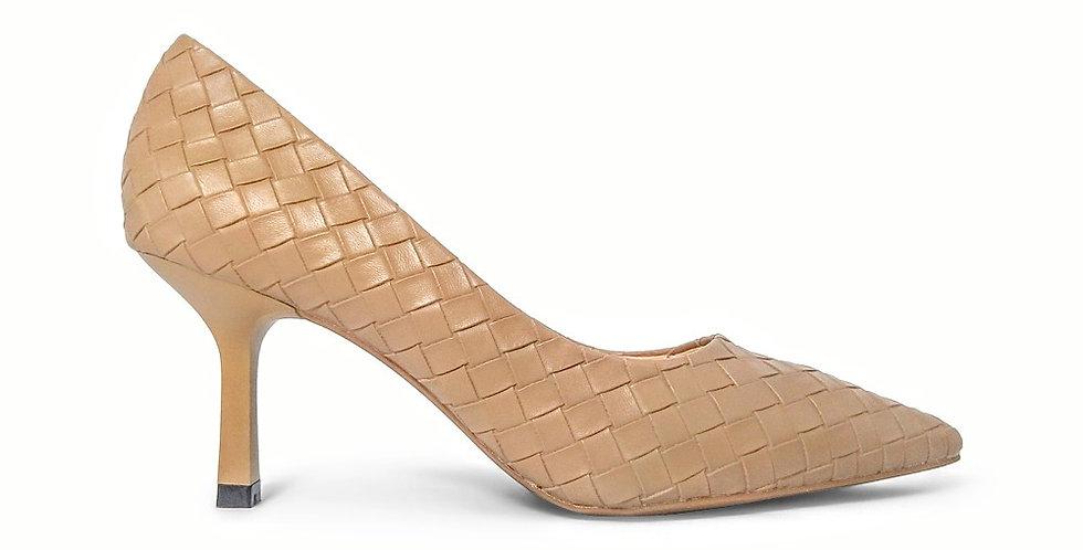 Giày Cao Gót Công Sở 6cm Đệm Mút Sulily màu nâu
