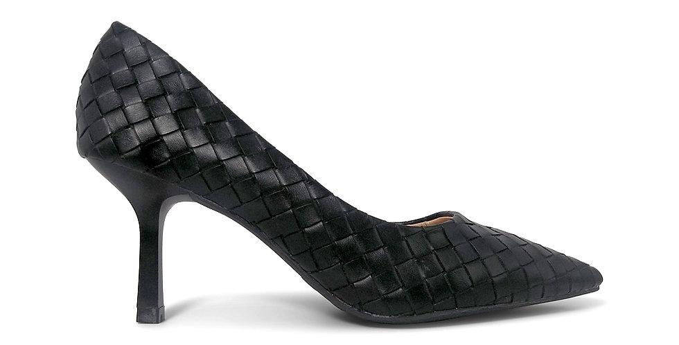 Giày Cao Gót Công Sở 6cm Đệm Mút Sulily màu đen