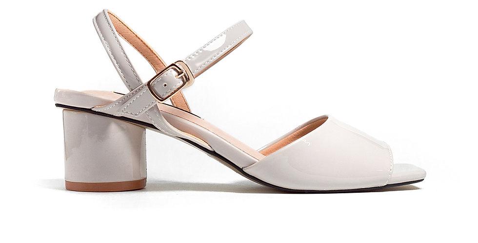 Giày sandal gót vuông mũi vuông Sulily màu xám