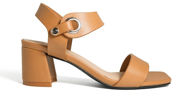 Giày Sandal Gót Vuông Khóa Bấm Sulily
