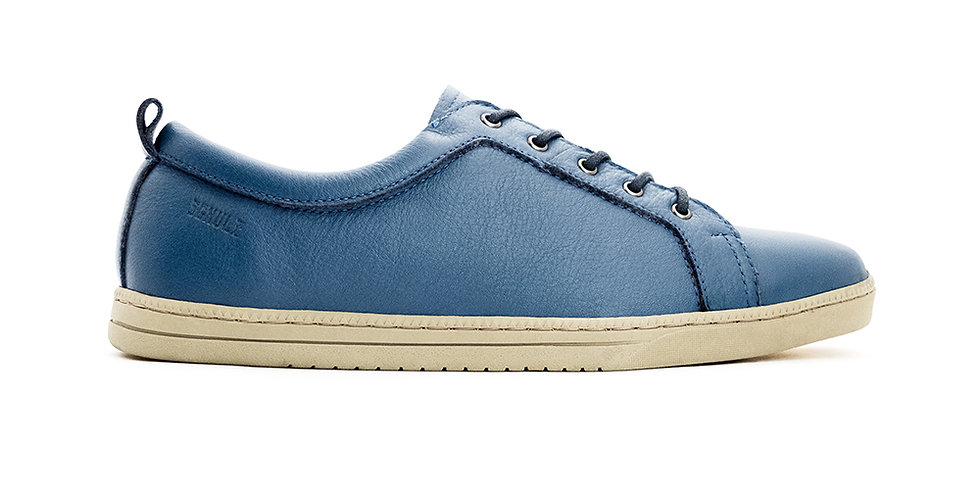 Sale 9.9 - Giày Sneaker Da Buộc Dây Đế Cao Su SCHULZ