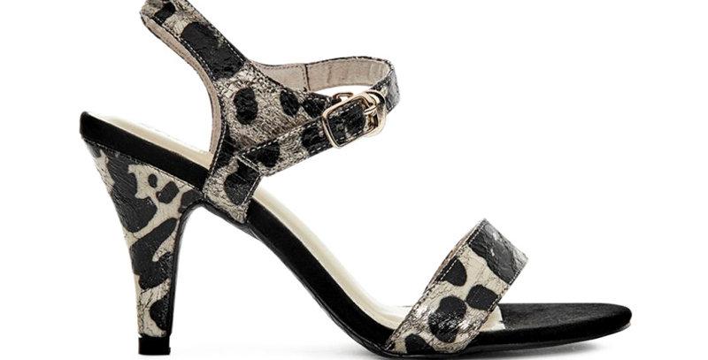 Sandal Gót Nhọn Dây Mảnh Da Beo Sulily