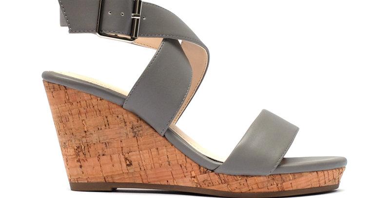 Giày Sandal Đế Xuồng Quai Chéo Sulily