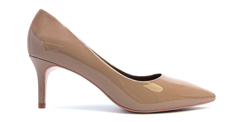 Giày Cao Gót Mũi Nhọn Da Bóng Sulily