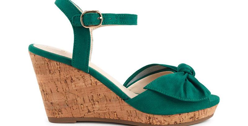 Giày Sandal Đế Xuồng Nơ Sulily