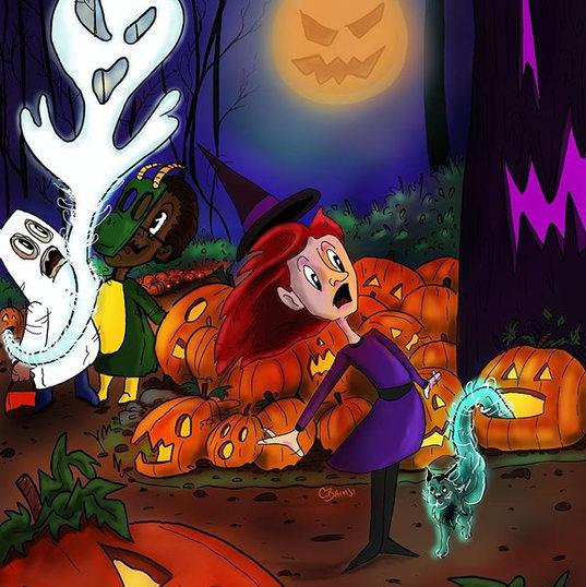3 of 3 Haunted pumpkin patch.