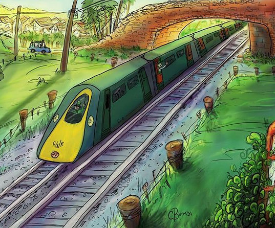 Based on my train adventure through English Country Side.