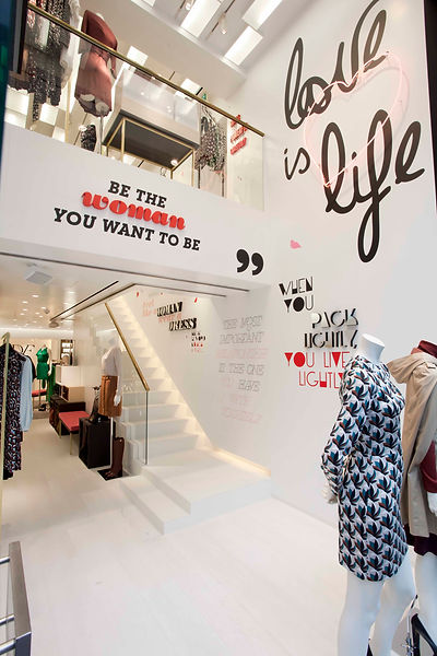 Diane von Furstenburg flagship store commercial interior design and architecture, in conjunction with DvF | Alison Wilkinson design portfolio