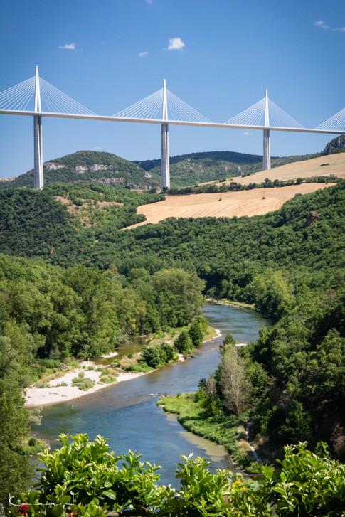 Viaduc de Millau depuis Peyre