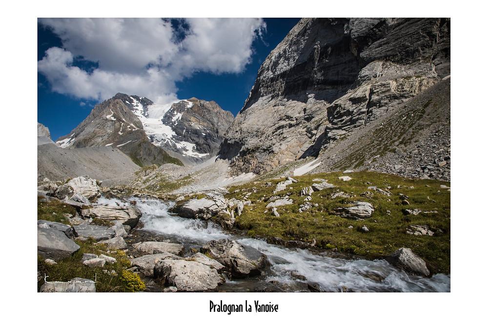 Savoie Alpes, Pralognan la Vanoise Aiguille de la Vanoise Torrent de la Glière Grande Casse