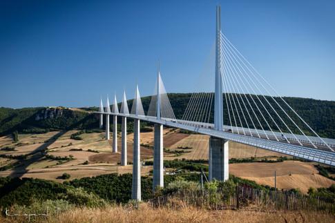 Viaduc de Millau depuis l'Aire du Viaduc