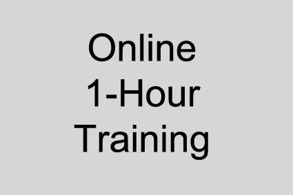 Online - 1 Hour Training