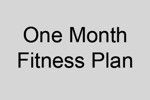 One Month Fitness Plan