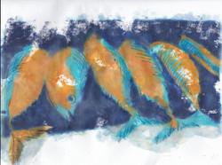 Les poissons oranges