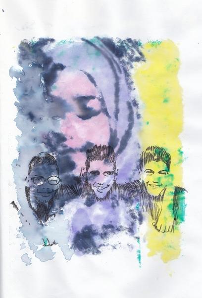 Elle et les 3 copains