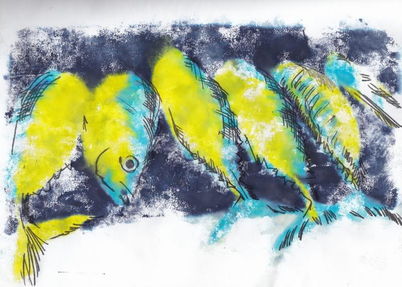 Les poissons jaunes