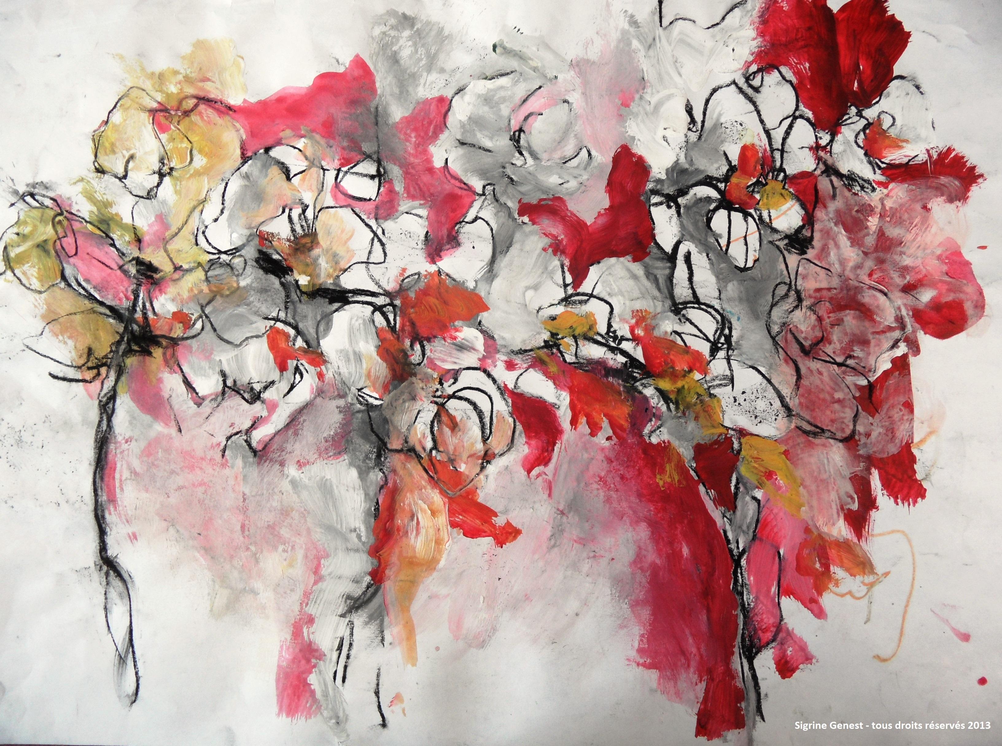 orchidées rouges