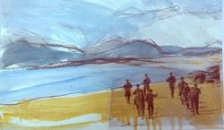 Les gardes frontière, la plage
